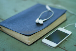 Bible and iphone